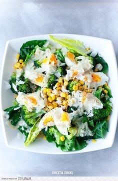 Hobby: Damskie pasje i hobby. Odkryj i pokaż innym Twoje hobby. Caesar Sauce, Healthy Salads, Healthy Eating, I Love Food, Good Food, Pasta Lunch, Vegan Recipes, Cooking Recipes, Tasty Dishes