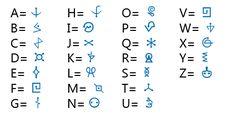 Lettres Code Alphabet, Sign Language Alphabet, Alphabet Symbols, Ancient Alphabets, Ancient Symbols, Writing Fonts, Writing Prompts, Different Alphabets, Element Symbols