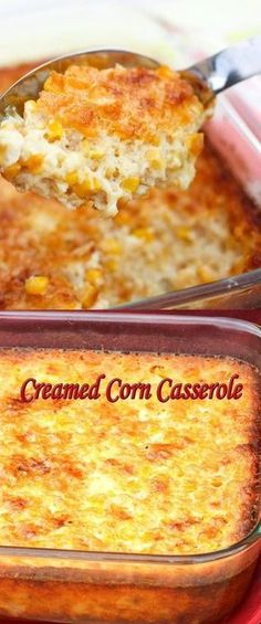 Best Creamed Corn Casserole I used cream & heavy whipping cream in place of milk. Used only fresh sweet corn - no cream corn. Corn Dishes, Vegetable Dishes, Vegetable Recipes, Side Dishes, Pasta Dishes, Thanksgiving Recipes, Holiday Recipes, Great Recipes, Favorite Recipes