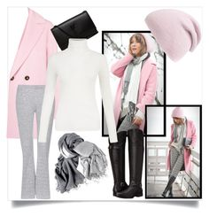 """Pink and Grey"" by chanlee-luv ❤ liked on Polyvore featuring Marella, Topshop, Naturalizer, Phase 3 and Yves Saint Laurent"