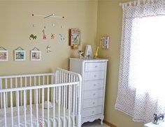 Lingerie chest as nursery furniture - love it.