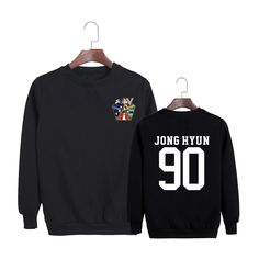 SHINee Jonghyun 90 V Album Hip Hop Fashion Black White Sweatshirt #SHINee #Jonghyun #V #Album #HipHop #Fashion #Black #White #Sweatshirt #KIDOLSTUFF #KPOP
