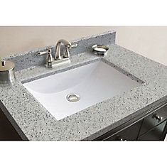 Magick Woods Elements x Moonstone Cultured Granite Vanity Top with Rectangular Wave Integrated Bowl Cheap Countertops, Formica Countertops, Bathroom Countertops, Concrete Countertops, Diy Concrete Counter, Wooden Counter, Granite Vanity Tops, Dark Counters, Faux Granite