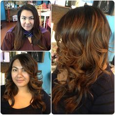 Hair by stylist Brittany Carter of Meleesa The Salon. Before and after on  my client