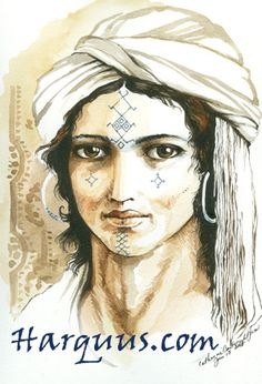 Harquus  Traditional Women's Tattoos and Facial Markings   from North Africa, the Middle East, and South Asia:   History, Traditions, Techiques and Patterns.