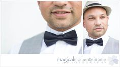 Wedding at 401 Rozendal best man portraits with bow tie and hat