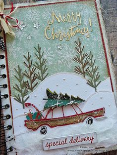 A Christmas notebook for use in so many things. LOVE.