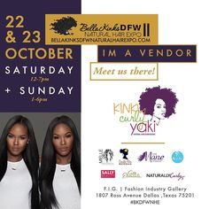 D F W !  We will be in the house at @bellakinksdfwnaturalhairexpo with special guests @heycurlie & licensed cosmotologist extraordinaire Markeita from @touchofheavensalon . . Come see us in the KinkyCurlyYaki SUITE with demos on how to rock #kinkycurlyyaki clips ins & wigs! . . We will be on hand giving live demos and showing you how to easily work our clip ins and wigs into your protective style arsenal. And of course we will have hair on hand for purchase with exclusive onsite discount…