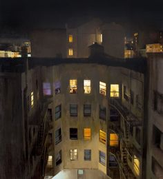 "Kim Cogan 5 Stories in the Tenderloin, 72"" X 64"", oil on canvas"