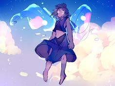 "shmoof: "" lapis from the stream! Greg Universe, Universe Art, Desenhos Cartoon Network, Lapis Lazuli Steven Universe, Cartoon Network Shows, I Love Anime, My Heart Is Breaking, Fan Art, Animation"