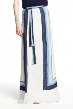 How To Wear: The Maxi Skirt | Calypso Strip Maxi #gotidbits