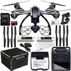 Typhoon Quadcopter with UHD, HD / No Distorsion Lens, Gimbal and Large Touch Screen Display (inches) microSD by Yuneec * More info could be found at the image url. Drone For Sale, Drone Technology, Technology Gadgets, Drone Quadcopter, 4k Uhd, Camera Settings, Aerial Photography, Landing Gear, Robotics