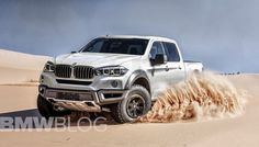 image of BMW pickup truck rendering 750x429