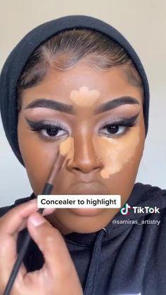 Makeup For Black Skin, Makeup Eye Looks, Black Girl Makeup, Eyebrow Makeup Tips, Beauty Makeup Tips, Contour Makeup, Contouring, Maquillage Yeux Cut Crease, Makeup Looks Tutorial