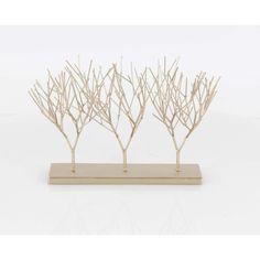 Benzara tone Metal Triple Tree Sculpture