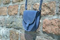 """Купить Сумка женская """"Морской круиз"""" - синий, однотонный, женская сумка, кожанная сумка"""