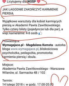DLA WOŚP kameralne warsztaty w Warszawie - tylko 4 osoby ciacho i ja. Odstawianie od piersi od A do Z. Licytacja trwa! Link w BIO <3 @fundacjawosp #wośp. #wielkaorkiestraświątecznejpomocy #wymagajace #karmieniepiersią #mamapsycholozka #promotorkakarmienia #warszawa #wilanow