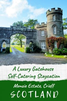 A Luxury self catering holiday in Scotland - East Gatehouse Lodge on the Monzie Estate near Crieff - one of the most unusual places to stay in Scotland #staycation #luxury #selfcatering #cottage #holiday #scotland #uk #gatehouse #quirky #castle #highlands #ukbreak #remote #rural #travel #crieff Scotland Travel, Ireland Travel, Scotland Uk, Europe Travel Guide, Travel Guides, Travel Destinations, Stay In A Castle, Crieff Scotland, Scotland Holidays