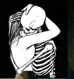 """skull-heads: """" Brighter side of Darkness. Skeleton Drawings, Skeleton Art, Art Drawings, Skull Head, Skull Art, Dark Fantasy Art, Dark Art, Kiss Tattoos, Visual Aesthetics"""