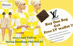 We offer free louis vuitton wallet for any purchase, if you order one of purse you can get one free wallet,    also made 2 handbags can 2 x LV wallet too, just add the lv wallet to shopping cart and checkout.