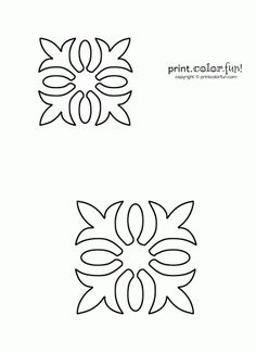 Free Quilting Stencils | Hawaiian quilt stencil | Print. Color. Fun! Free printables, coloring ...