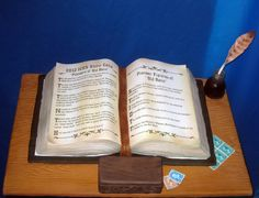 Bible Cake---This would make a great birthday cake, with your pastor's favorite BIBLE passage.