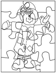 ✿ Pinta y decora el Puzzle , recorta las piezas y úsalo tantas veces como quieras, un material muy económico para el aula.         MODELO...