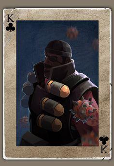 TF2 Poker demoman by biggreenpepper on DeviantArt