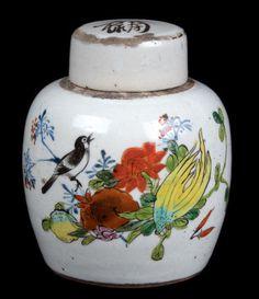 China 20. Jh. Tee Dose - A Chinese Porcelain 'Tea' Jar - Chinois Cinese