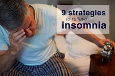 """I wake up in the middle of the night and can't get back to sleep. What can I do?"" Here are 9 strategies to relieve #insomnia"