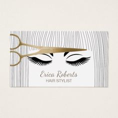 247 best hairstylist business cards images on pinterest hair stylist gold scissor girl hair salon business card colourmoves