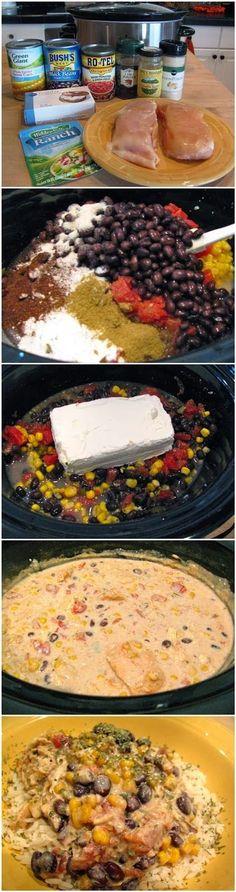 Crock Pot Cream Cheese Chicken Chile - simplexfood