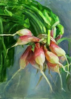 "Daily Paintworks - ""Suspended Radishes"" - Original Fine Art for Sale - © Taryn Day Life Drawing, Fine Art Gallery, Art For Sale, More Fun, Something To Do, Landscape, Vegetables, Drawings, Day"