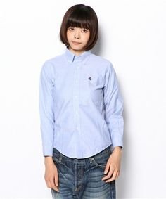 ブルックスブラザーズのカラーシャツでシンプル可愛いコーディネート|MERY [メリー]