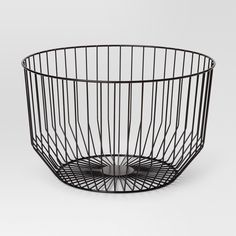 Round Wire Basket Small - Black - Project by Target Living Room Green, Small Living Rooms, Kitchen Styling, Kitchen Decor, Kitchen Ideas, Kitchen Storage, Decorative Objects, Decorative Bowls, Ikea