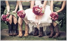 country wedding - love the boots I can so see my girl wearing  boots on her wedding day