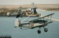 Faith, Hope, and Charity---the three bi-planes that defended Malta during World War II.  ---    #WWII
