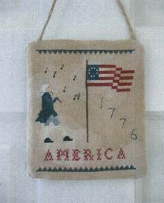 Colonial Gent Cupboard Hanger - Cross Stitch Pattern