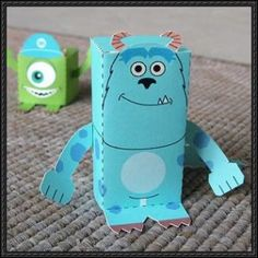 Disney Pixar: Monsters, Inc. - James P. Sullivan Free Paper Toy Download