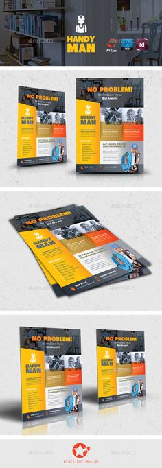 Advertising Brochure Template Advertisement Advertising Agency Agent Broker Business Flyer .