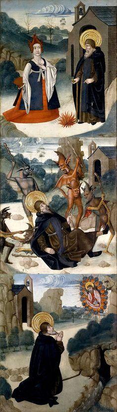 Abadia Juan De La  Century Scene From Life Of St Antonia Abbate 01 1490 Prado