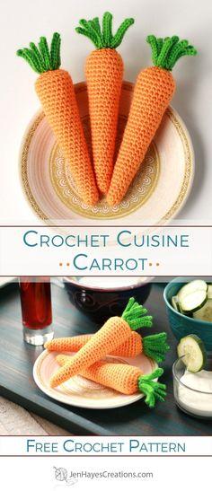 Crochet Cuisine: Carrot | A Free Pattern by Jen Hayes Creations