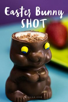 We're obsessed with these crazy boozy bunny shots Easter Drink, Easter Cocktails, Hoppy Easter, Holiday Drinks, Easter Dinner, Easter Brunch, Party Drinks, Holiday Treats, Fun Drinks