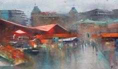 """Tori"" Watercolor Landscape, Watercolor Paintings, Watercolours, Martini, Album, City, Pictures, Water Colors, Cities"