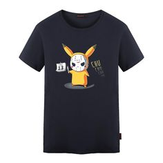 c786b1bc Men T Shirt Funny Pikachu Cos Jason Cotton. Mens Tee ShirtsT ShirtBlack And  NavyFunny PrintsSummer MenPrintingPikachuKids ...