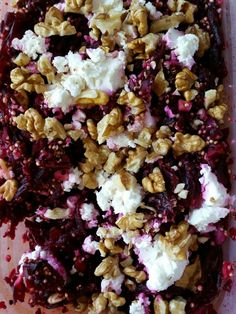 Bietensalade met quinoa, feta en walnoten a la Rens Kroes!!