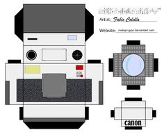 Canon camera cubeecraft by melopruppo.deviantart.com on @DeviantArt