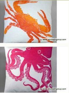 Coastal Sea Life Home Decor - love these pillows!!