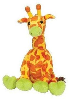 d8821fe63c4 TY Beanie Baby - GIRAFFITI the Giraffe (Circus Beanie)  Mint! Retired from  circus.has perfect tags with story in plastic envelope. Colorful and playful