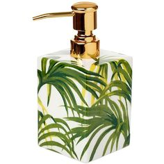 House Of Hackney Home Palmeral Soap Dispenser ($43) ❤ liked on Polyvore featuring home, bed & bath, bath and bath accessories
